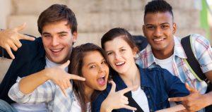 Teen smiling image