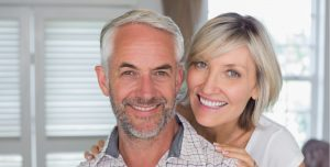 Middle age couple smiling image