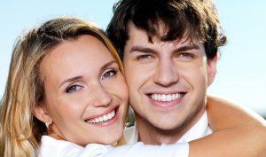 Happy couple smiling image