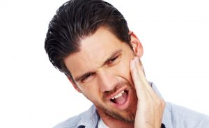 Man in oral pain image