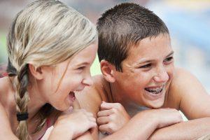 kids with dental braces image